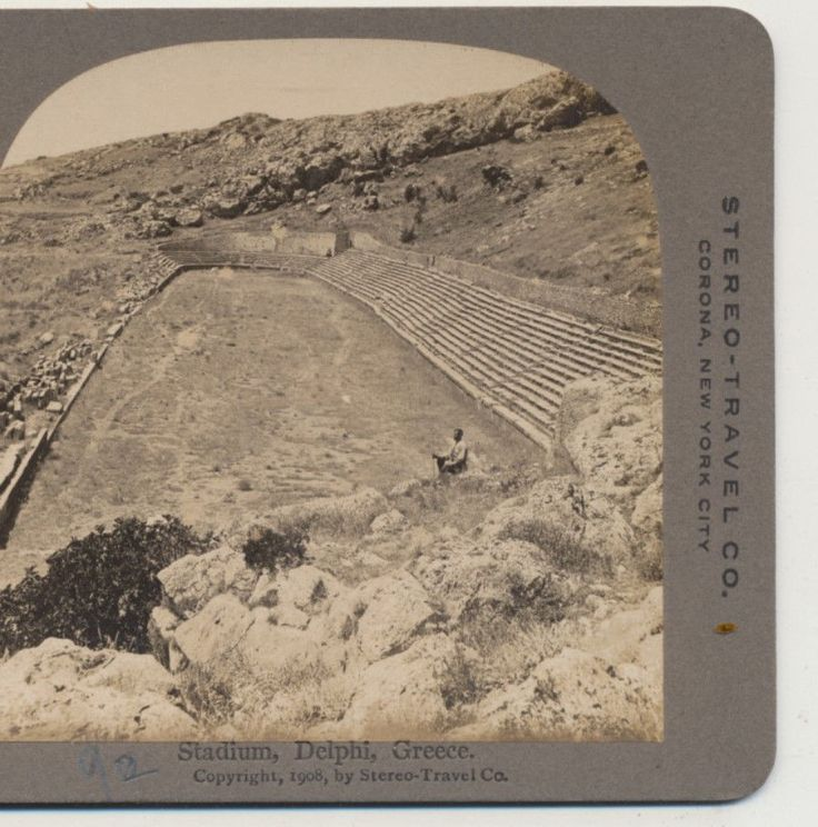 Mouse over image to zoom Stadium-Delphi-Greece-Stereo-Travel-Stereoview-1908  Stadium-Delphi-Greece-Stereo-Travel-Stereoview-1908 Have one to sell? Sell it yourself Stadium Delphi Greece Stereo Travel Stereoview 1908