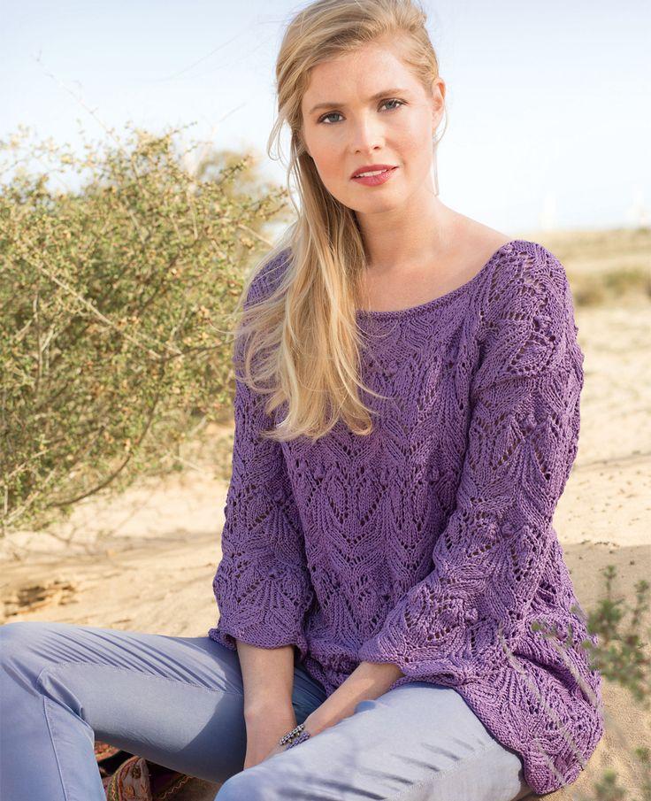 Lace knit tunic