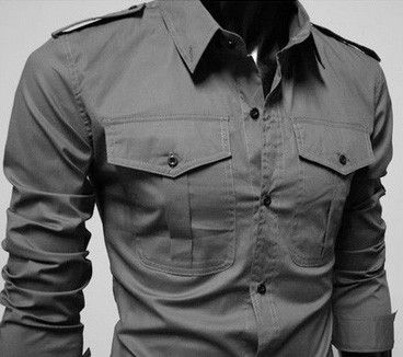 Men's Double Pocket Casual Shirt
