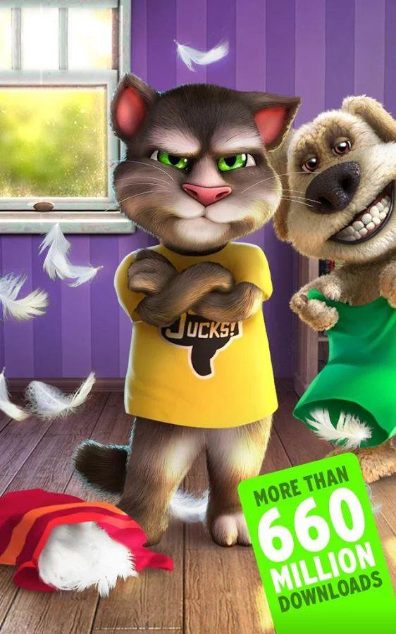 Talking Tom Cat 2– captură de ecran