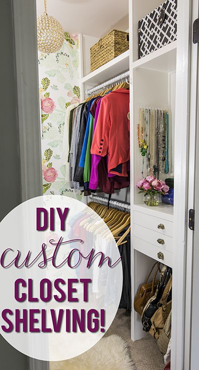 Step-by-step in-built shelving | How fabulous would it be to have custom shelves in your closet? Come see how to make your own!