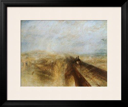 オールポスターズの ウィリアム・ターナー「雨、蒸気、速度 - グレート・ウェスタン鉄道」高画質プリント