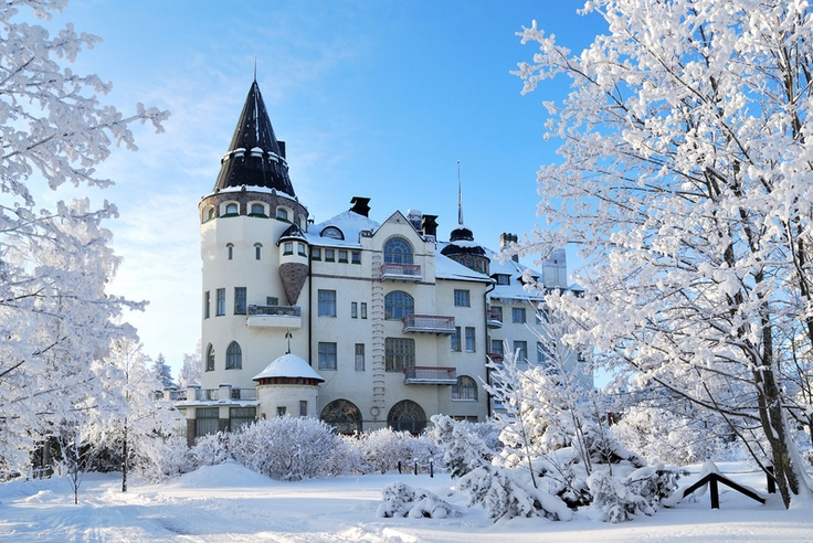 "The ""Imatran Valtionhotelli"" Castle Hotel in Imatra, South-Eastern Finland ...."