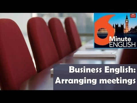 BBC 6 Minute Business English transcript video - Arranging meetings: There are so many important people getting together discussing important things - and it's got him thinking about the skill of setting up meetings effectively. Neil and Feifei practise the language of setting up meetings. Join them as they role-play a business conversation - and pick up a few useful phrases to take away with you!