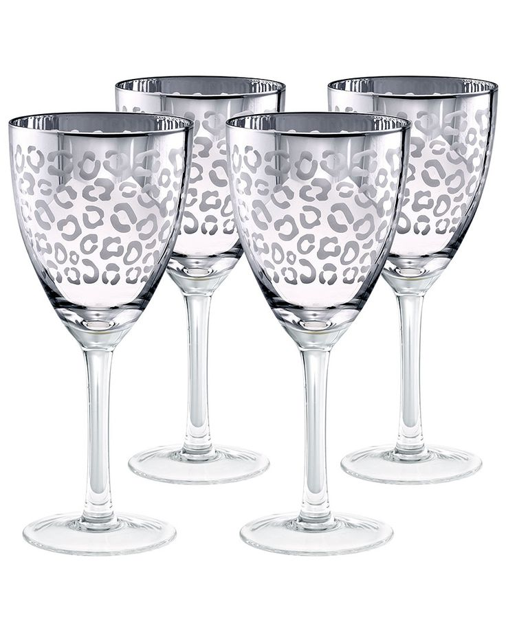 leopard print wine glasses $44.90