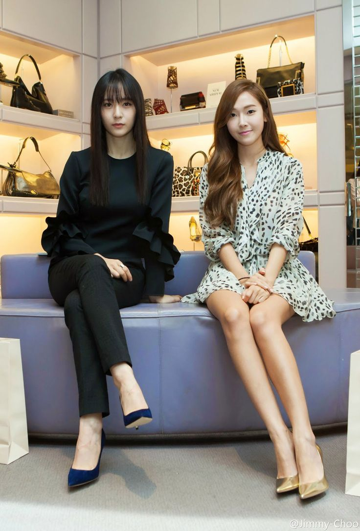 Jessica and Krystal Jung of Girls' Generation #SNSD and F(x) at Jimmy Choo event