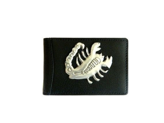 Valentine Day gift for him Zodiac Leather Credit Card Holder by Loutul on Etsy, £14.00
