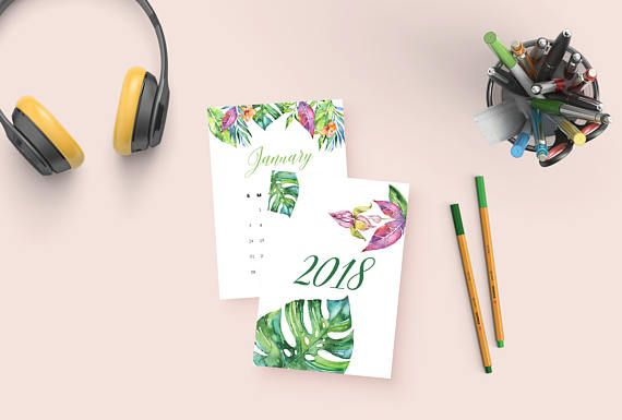 This printable tropical calendar features an unique botanical design for each month of the year, as well as a 2018 front page. This desk calendar is perfect for giving your year a splash of color! Great for a last minute gift or stocking stuffer: make someone in your life happy.