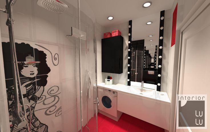Ciekawa łazienka w bloku zdjęcie