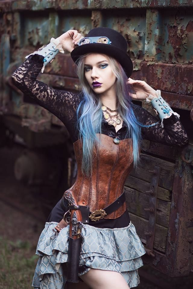 "gothicandamazing: ""Model: Lady Marou Photo: Muarta Fotografia Outfit: Steampunk & Fantasy Welcome to Gothic and Amazing | www.gothicandamazing.com """