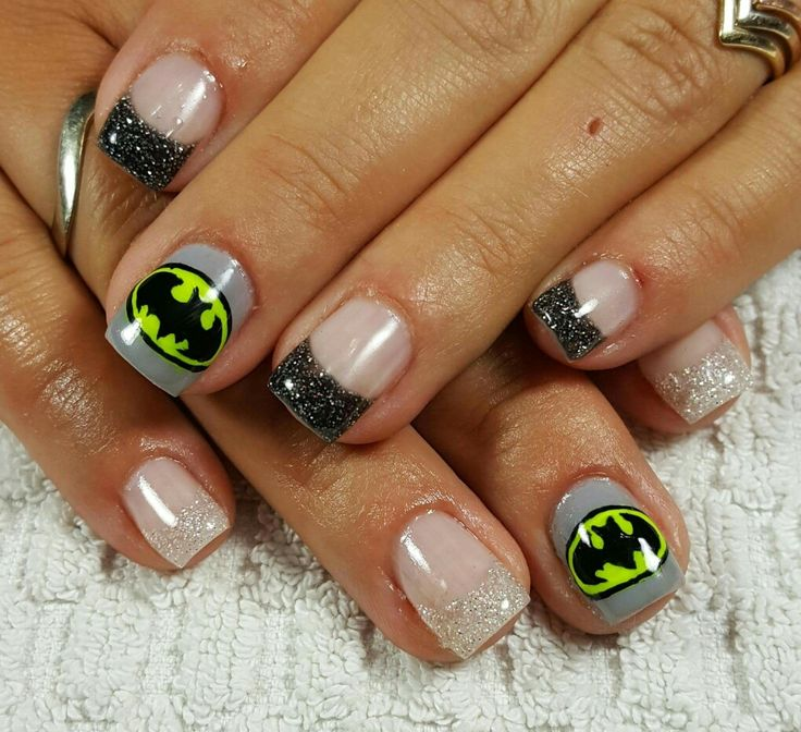 Batman Nail Art Simple The Best Inspiration For Design And Color