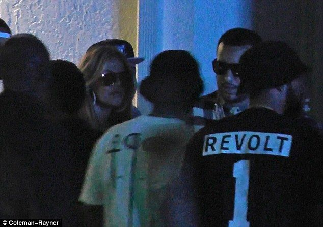 Party people: Khloe Kardashian and French Montana partied away at Ivy nightclub in Miami in the wee hours of Saturday morning