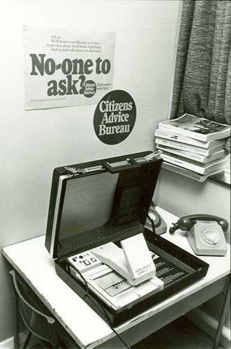 "The ""portable CAB"" from the 1970s used for outreaches - ran on microfiche and tricky to read apparently"