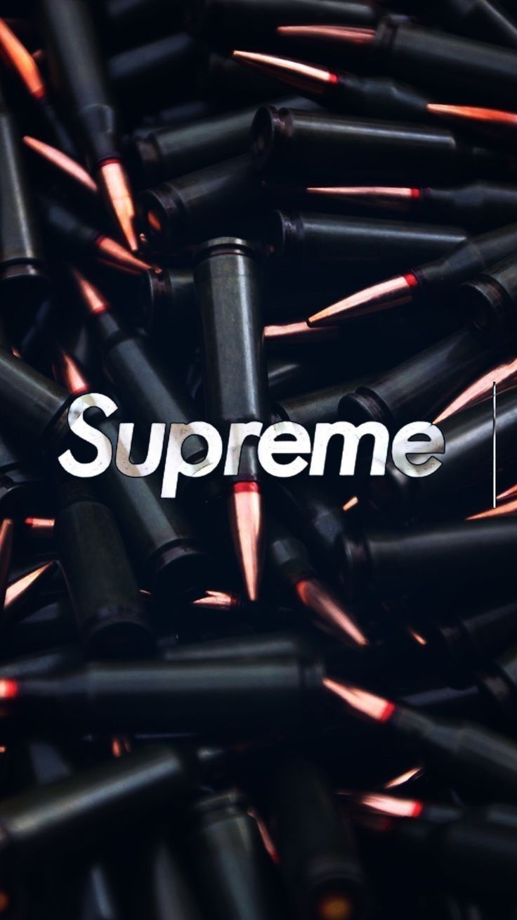 Supreme Bullet Supreme Iphone Wallpaper Supreme Wallpaper Hypebeast Wallpaper