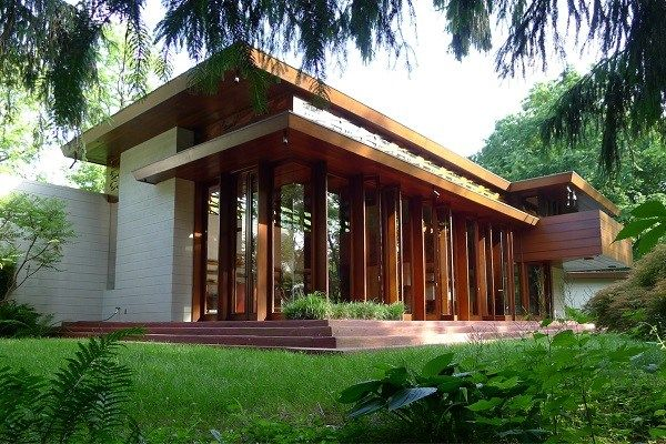 Frank lloyd wright usonian house home design and for Architecture wright