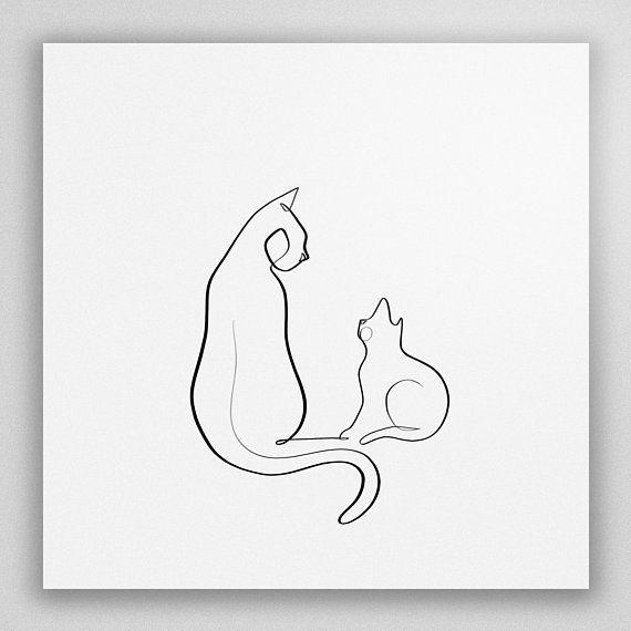 Die Feline mit einem Line-Serie wächst langsam und heute haben wir ein neues Stück der Sammlung hinzu. Dieser Druck kennzeichnet ein Kätzchen Neugi…