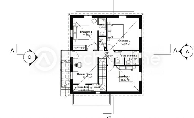 17 meilleures id es propos de plans de maison for Plan maison traditionnelle