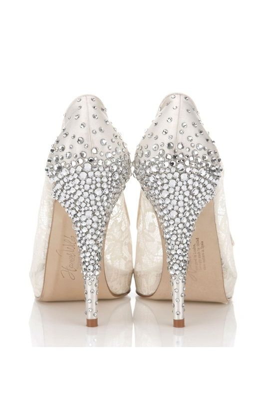 Wedding Inspiration: Rhinestone Bridal Shoes. #weddings #rhinestones #shoes