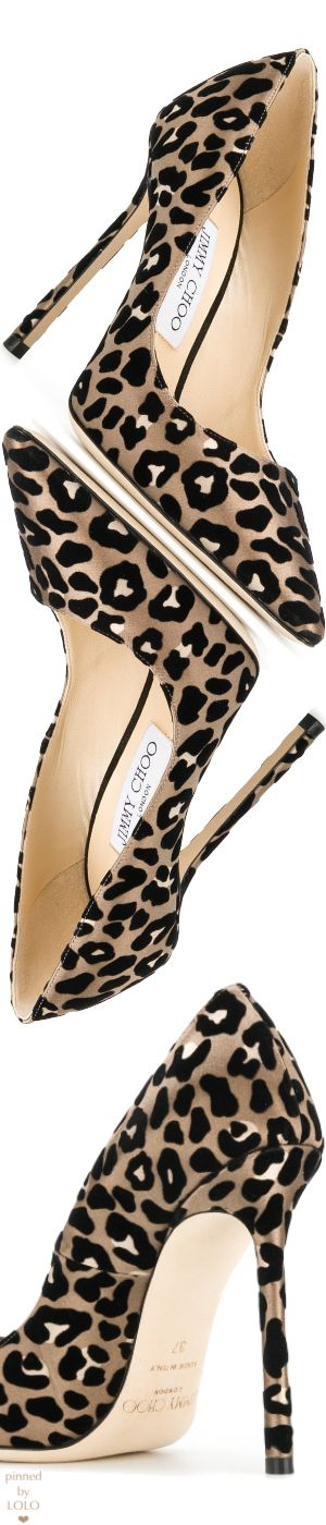 JIMMY CHOO Romy 100 Pumps in Velvet Leopard