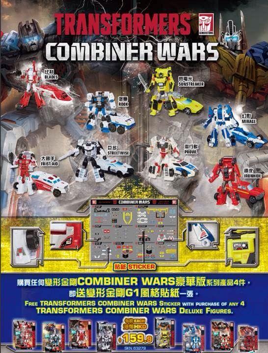 #transformer transformers combiner wars sticker sheet no 2 defensor  optimus maximus