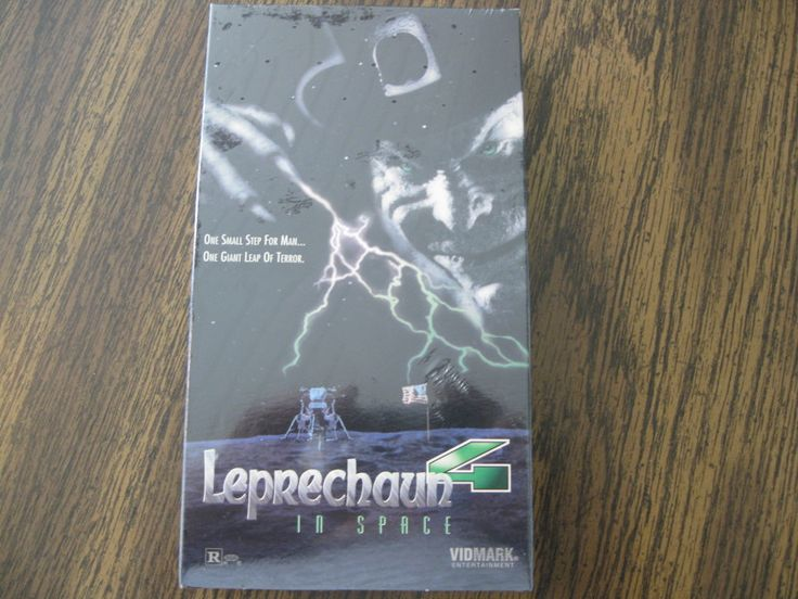 New Leprechaun In Space VHS Rated R.