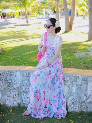 Korea feminine clothing Store [SOIR] #koreafashionshop #Fashionwomen  #korea #dailylook #dailyfashion #dress #top #skirt #pants #innerwear #bridemaid #honeymoon #partylook #leggings #homewear #koreafashion #clothes #vacance #honeymoon #バカンス #休假 Freel butterfly maxi dress / Size : FREE / Price : 62.46 USD