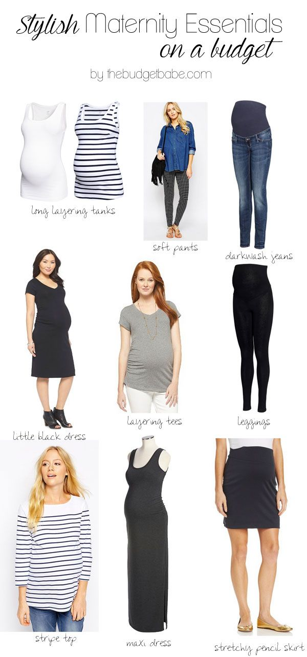 Stylish Maternity Fashion Essentials On A Budget ...