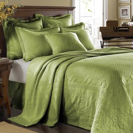 Image result for green brocade bedspread