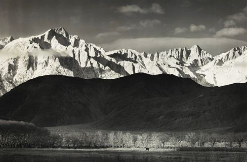 Winter Sunrise, from Lone Pine - Mural by Ansel Adams