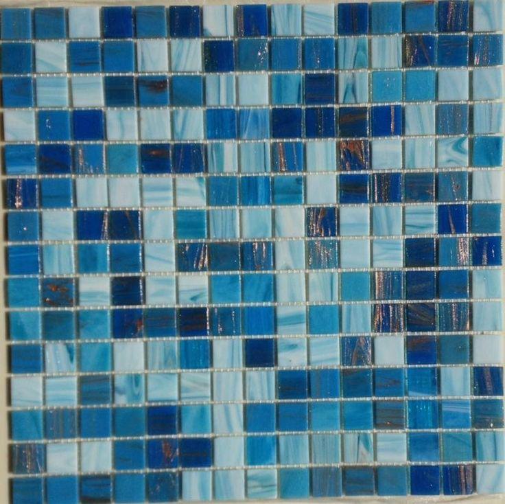 mosaique discount mlange bleu marina au m mosaque de pte de verre mlange 2 - Mosaique Turquoise