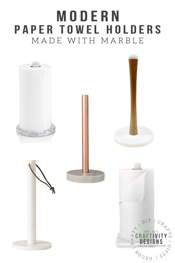 5 Gorgeous Marble Paper Towel Holders For A Modern Kitchen Paper Towel Holder Towel Holder Modern Paper Towel Holders