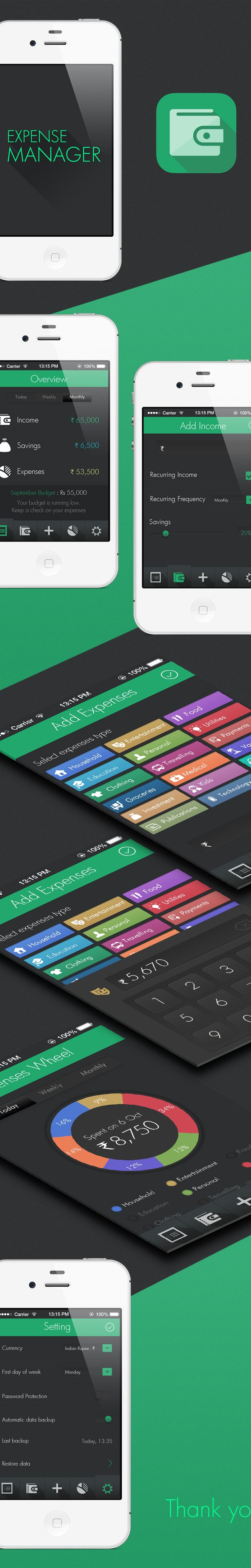 Expense manager by Pritesh Dalal, via Behance