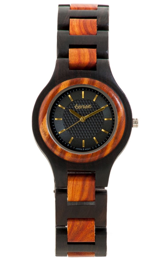 Tense Men's Pacific Watch in Dark Sandalwood and Rosewood - $115 at tensewatch.com.