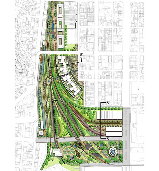 Kaohsiung port station urban design competition winner6 for 592 plan