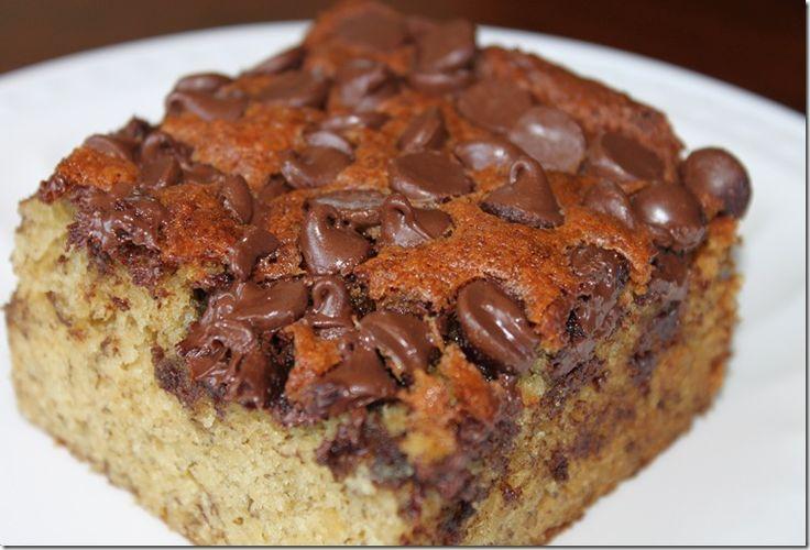 Banna Chocolate Chip Snack Cake