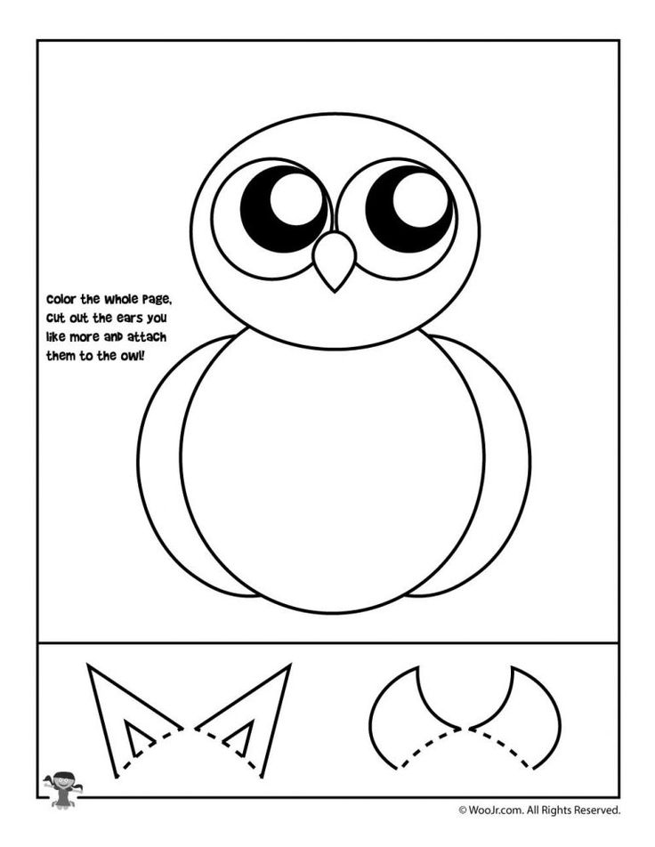 Autumn Owl Cutting Practice   Fall preschool worksheets ...   Owl Tracing For Cut Out
