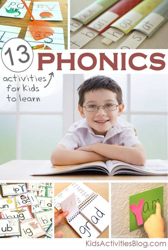 13 Phonics Activities teaching kids How to Read from Kids Activities Blog.