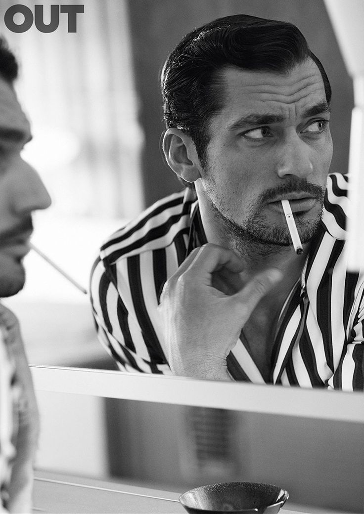 David Gandy photographed by Blair Getz Mezibov and styled by Grant Woolhead, for the February 2015 issue of Out magazine.