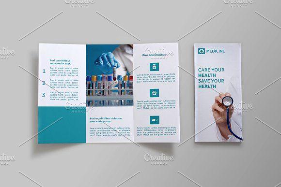 Medicine Tri-fold Brochure - Doc by NEXDesign on @creativemarket