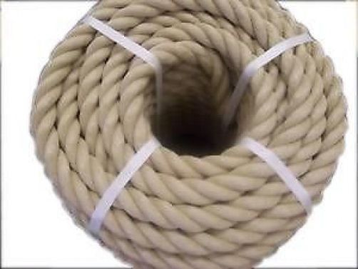 Decking Rope Garden Rope Natural Buff Sisal Rope 36MM Dia X 30M