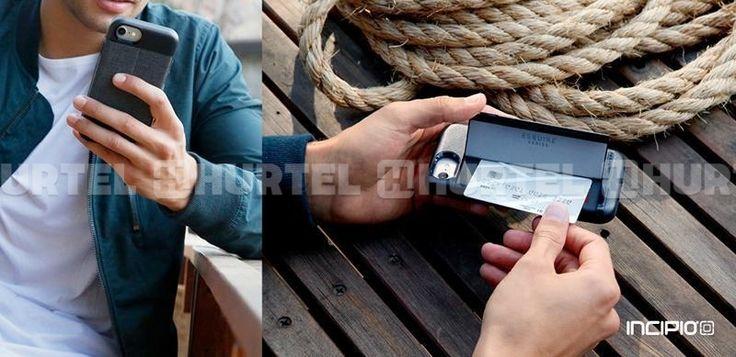 Incipio Esquire Series Wallet Case - Etui iPhone 7 z kieszenią na kartę (Heather Navy)