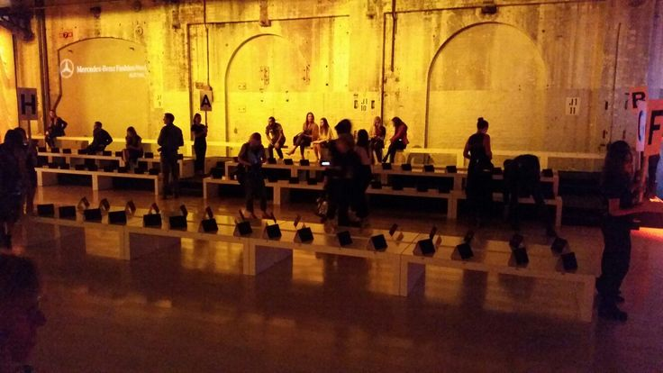 Exponet't slimline benches are perfect for fashion shows and other events www.exponet.com.au