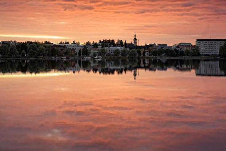 A view towards the city from Kajaani-river | Flickr - Photo Sharing!