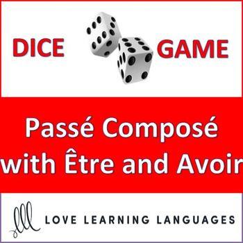 This is an easy to play 30 minute dice game to practice the French pass compos using tre and avoir as helping verbs. My high school students love this game, and it can get very competitive if you decide to play it as a race (details are explained with the activity).