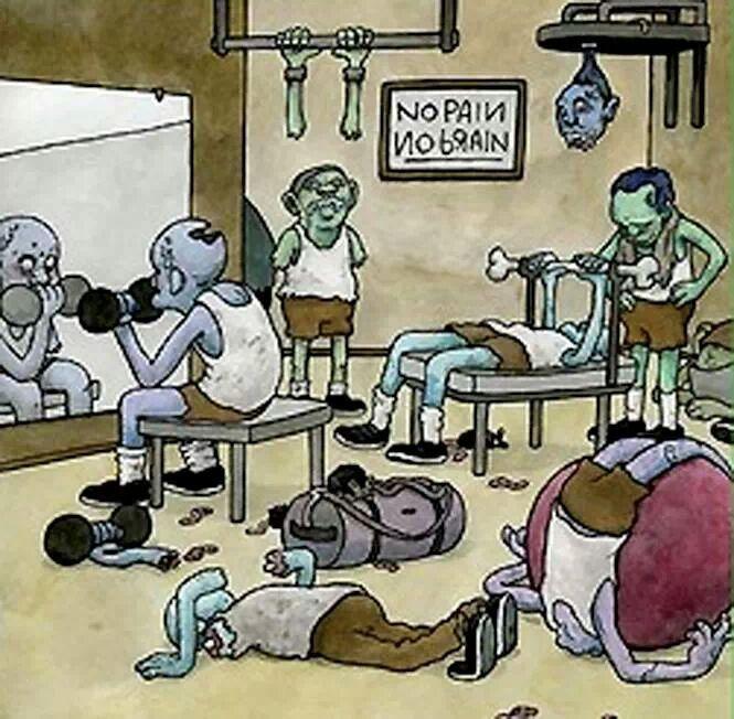 zombies en el gimnasio