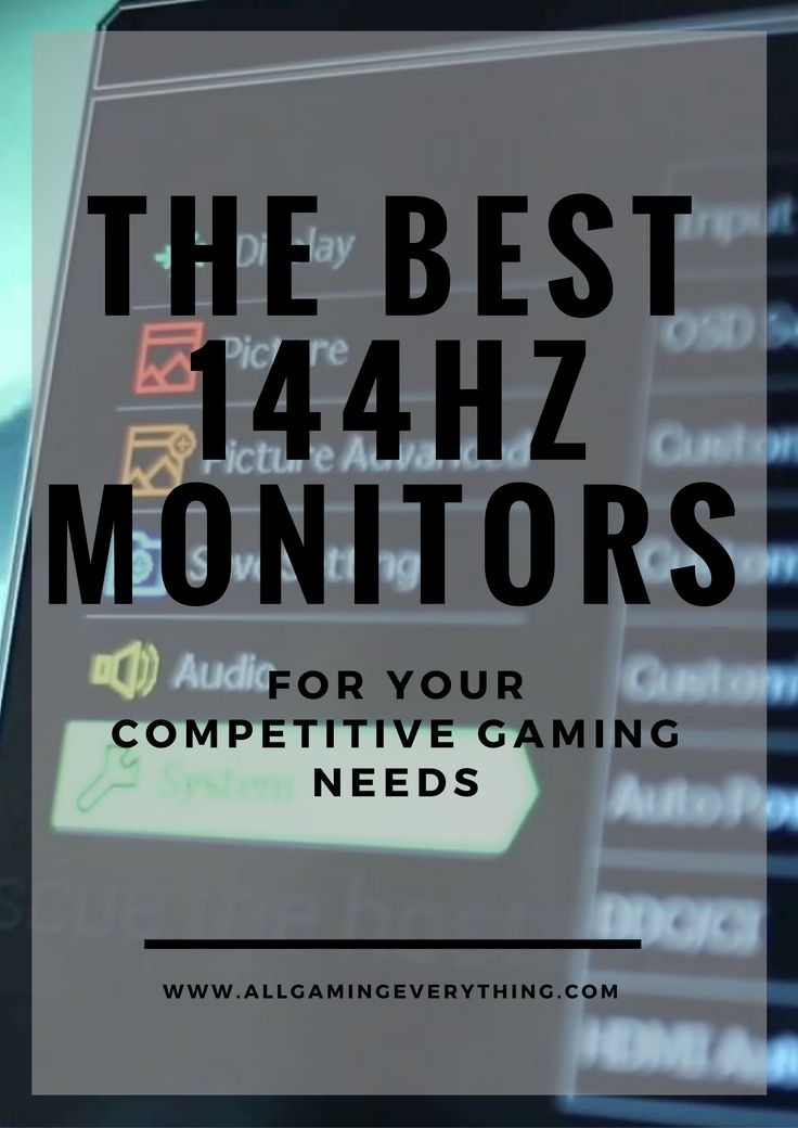 The top 5 144Hz monitors to buy this holiday season!