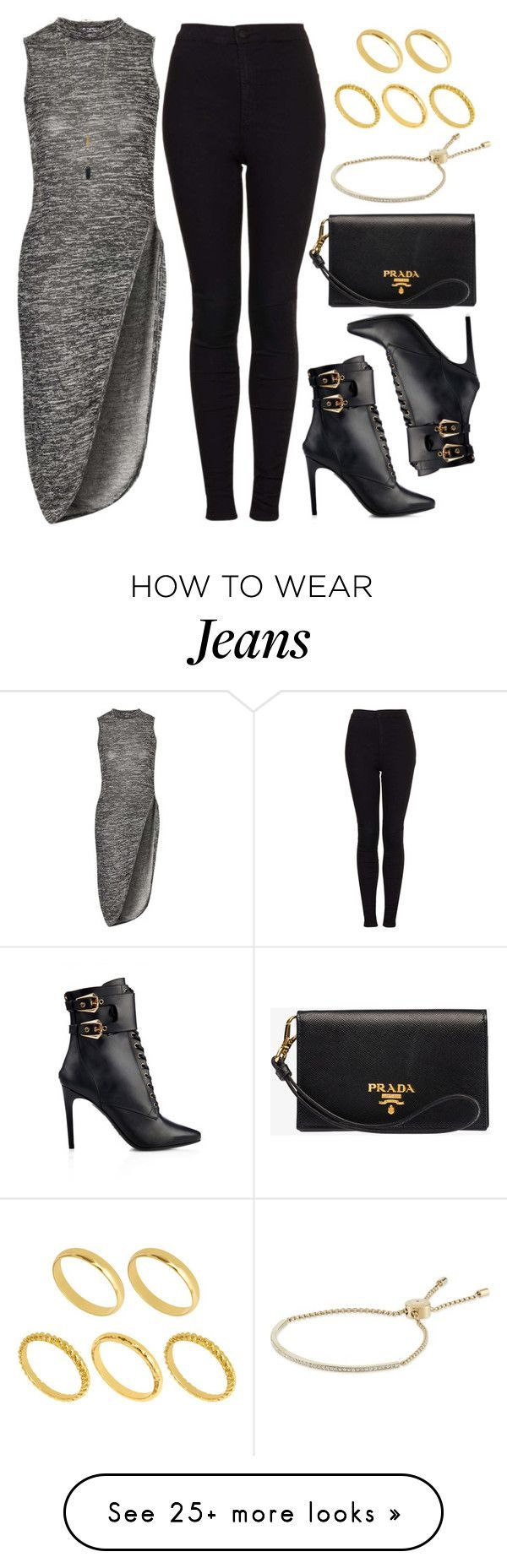 """Style #9843"" by vany-alvarado on Polyvore featuring Topshop, Balmain, Prada, Michael Kors, ASOS, women's clothing, women, female, woman and misses"