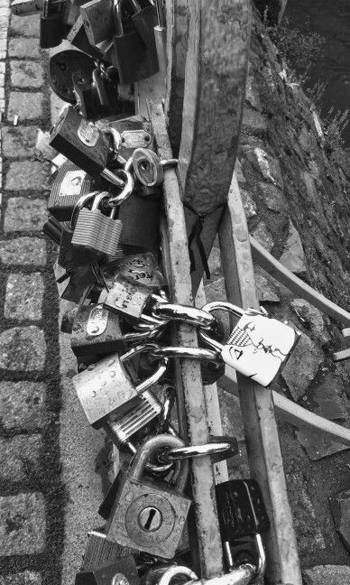 Proud of that kissing lock !  It shows how much do we love each other. Prague
