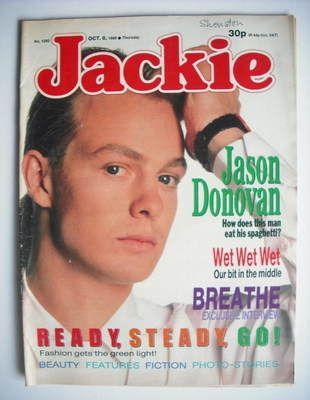Jackie magazine - 8 October 1988 (Issue 1292 - Jason Donovan cover)