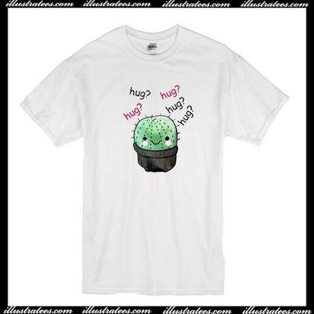 Cactus Hug Hug Hug T-Shirt